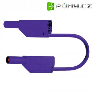 Měřicí kabel banánek 4 mm ⇔ banánek 4 mm MultiContact SLK425-E, 1 m, fialová