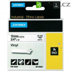 Páska do štítkovače DYMO 18445 (S0718620), 19 mm, IND RHINO, 5,5 m, černá/bílá