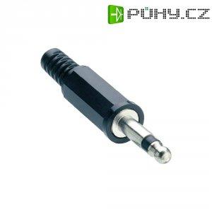 Jack konektor 3,5 mm Lumberg KLS, zástrčka rovná, 2pól./mono, černá