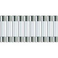 Jemná pojistka ESKA středně pomalá 525207, 250 V, 0,1 A, skleněná trubice, 5 mm x 25 mm, 10 ks