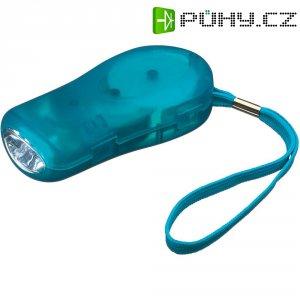 LED svítilna s dynamem Ampercell Klick-Klack, 04997, modrá