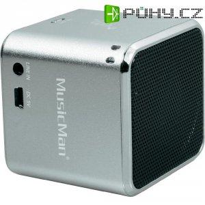 Mini bezdrátová sound stanice Technaxx MusicMan ® BT-X2, stříbrná