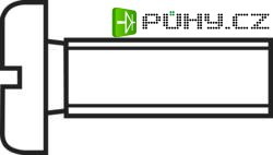 Šrouby s válcovou hlavou DIN 84 Ocel, 4,8 M2,5x6, 100 ks - Kliknutím na obrázek zavřete