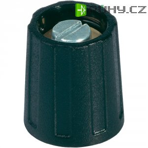 Otočný knoflík s ukazatelem OKW, Ø 20 mm, 6 mm, černá