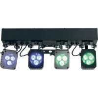Sada 4 LED reflektorů se stativem Mc Crypt Premium LumiClub, Multicolor