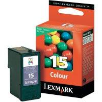 Cartridge Lexmark 15, 18C2110, žlutá/cyanová/magenta
