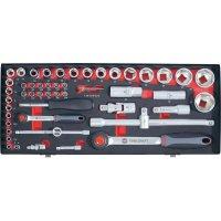 Sada ráčnových klíčů Toolcraft, 6,3 mm/12,5 mm, 55 ks