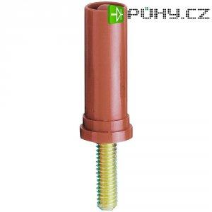 Šroubovací zástrčka 4 mm M4 MultiContact 24.0117-22, adaptér rovný, červená