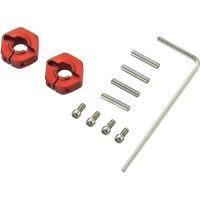 Unašeč kola 12 mm 6-hraný Reely 57805R, 5 mm, 1:10, červený hliník