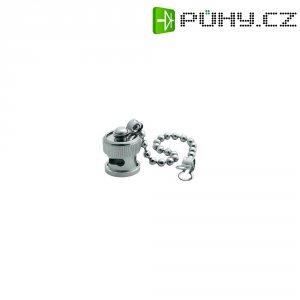 Krytka pro BNC zásuvku s řetízkem Amphenol B1005A1-N, stříbrná