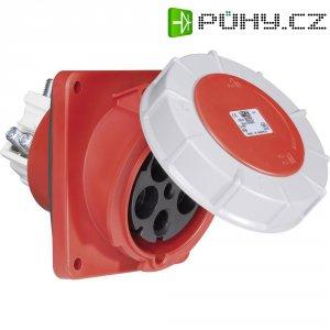 CEE zásuvka Twist 445-6 PCE, šikmá, 125 A, IP67, červená/šedá