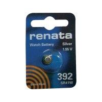 Knoflíková baterie na bázi oxidu stříbra Renata SR41, velikost 392, 45 mAh, 1,55 V