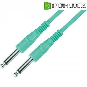 Instrumentální kabel s pogumováním JACK 6,3 mm Paccs , 4 m, zelený
