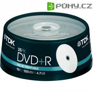 TDK DVD+R 4,7GB 16X 25 ks SP PRINT