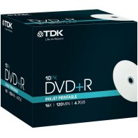 TDK DVD+R 4,7GB 16X 10 ks JEWELCASE PRINT