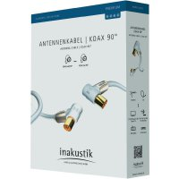 Anténni kabel Inakustik 00426303, 100 dB, pozlacené kontakty, 3 m, bílá
