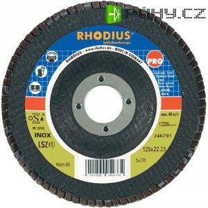Lamelový brusný kotouč Rhodius LSZ-F1 205586, Ø 125 mm/22.2 mm, zrnitost 80