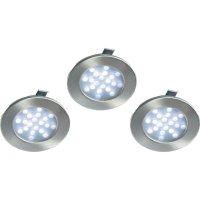 Vestavná LED světla, 3x 1 W, 20 LED, 230 V