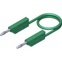 Měřicí kabel banánek 4 mm ⇔ banánek 4 mm SKS Hirschmann CO MLN 100/2,5, 1 m, zelená