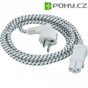 Napájecí kabel, zástrčka euro ⇔ CEE vidlice, 2 m, bílá