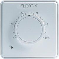 Pokojový termostat Sygonix tx.1 33983R, 5 až 30 °C, bílá