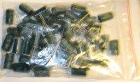 1500u/25V 85° 12x22x5mm, elektrolyt. kond. radiální, balení 48ks