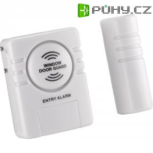 Dveřní/okenní alarm s hlásičem průchodu, 4.5 V/DC, 60 x 30 x 20 mm