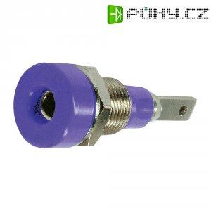 Laboratorní konektor Ø 2 mm MultiContact 23.0030-26, zásuvka vestavná vertikální, fialová