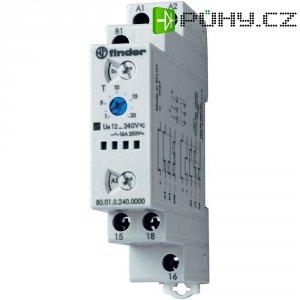 Multifunkční časové relé 80.01.0.240.0000 Finder 12 - 240 V DC/AC 1 přepínací kontakt