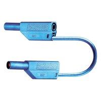 Měřicí kabel banánek 4 mm ⇔ banánek 4 mm MultiContact SLK425-E, 0,5 m, modrá