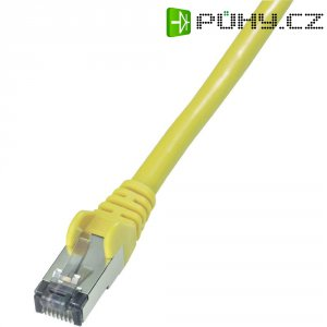 Patch kabel, CAT 6 S/FTP, RJ45, vidlice ⇔ vidlice, žlutá, 2 m