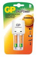 Nabíječka baterií GP KB02 + 2x GP EkoPower AAA