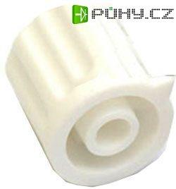Přístrojový knoflík KP1404, 14x15mm, hřídel 4mm, bílý - Kliknutím na obrázek zavřete