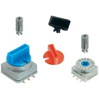 Otočný knoflík Würth Elektronik 714287050, 10 x 10 mm, modrá