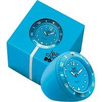 Analogové stolní hodiny Lolliclock, 44 x 44 x 47 mm, světle modrá