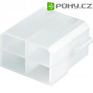 Konektor, 6,3 mm, 1 - 2,5 mm², 4pólové, transparentní