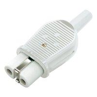 Síťová IEC zásuvka Kalthoff 1802, 250 V, 16 A, bílá, 840016-02