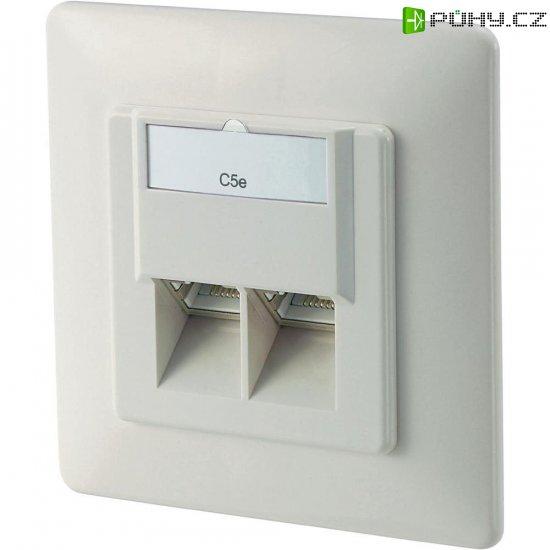 Síťová zásuvka pod omítku, Digitus DN-9001-N, CAT 5e 2, bílá - Kliknutím na obrázek zavřete