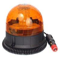 Oranžový výstražný magnetický maják LED 12-24V - kulatý