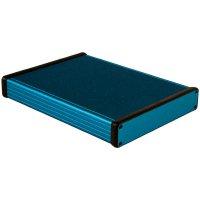 Univerzální pouzdro hliníkové Hammond Electronics, (d x š x v) 220 x 165 x 30,5 mm, modrá