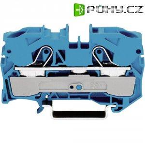 Průchozí svorka Wago 2010-1204, pružinová, 10 mm, modrá