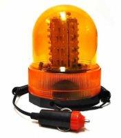 Oranžový maják s magnetem, 12V, kruhový, 80xLED