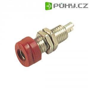 Laboratorní konektor Ø 4 mm SKS Hirschmann BUG 10 (930175101), zás. vest. vert., červená