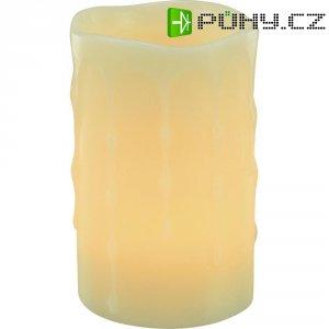Dekorativní LED svíčka, 7,5 x 12 cm, slonová kost