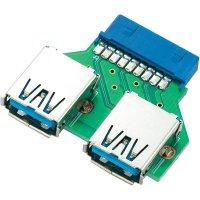 USB 3.0 adaptér USB 3.0/zásuvka A, 19pol.