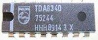 TDA8340 - zesilovač a demodulátor pro TV, DIL16