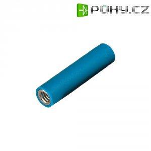 Šroubovací zdířka 4 mm - modrá