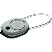 Přívěšek na klíče se svítilnou a žetonem AmperCell Shopper 3v1, 02863, 3 V, stříbrná