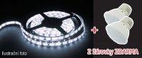 LED pásek AKCE 5050 60LED/m IP44 14.4W/m STUDENÁ, 5m + 2 LED žárovky zdarma v hodnotě 138,-