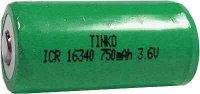 Nabíjecí článek Li-Ion ICR16340 (RCR123) 3,6V/750mAh TINKO
